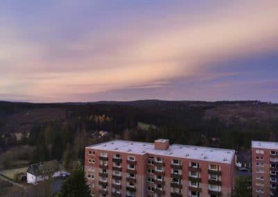 FeWo-Harz-Altenau_Balkon-Sonnenaufgang-leichte-Wolken